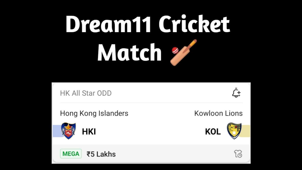 HKI vs KOL Dream11 team