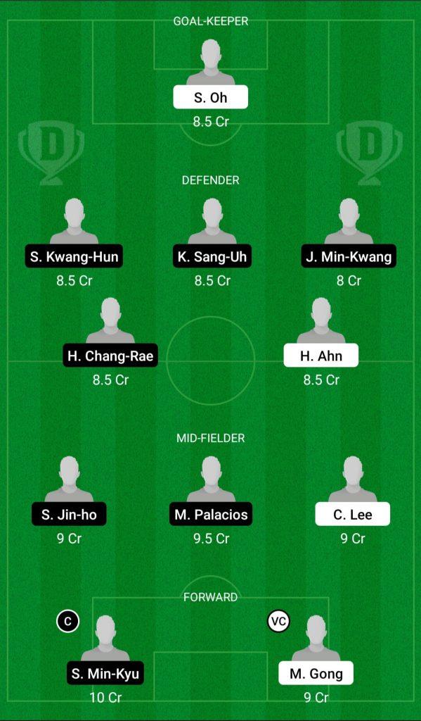 JEJ Vs PHG Dream11 Team