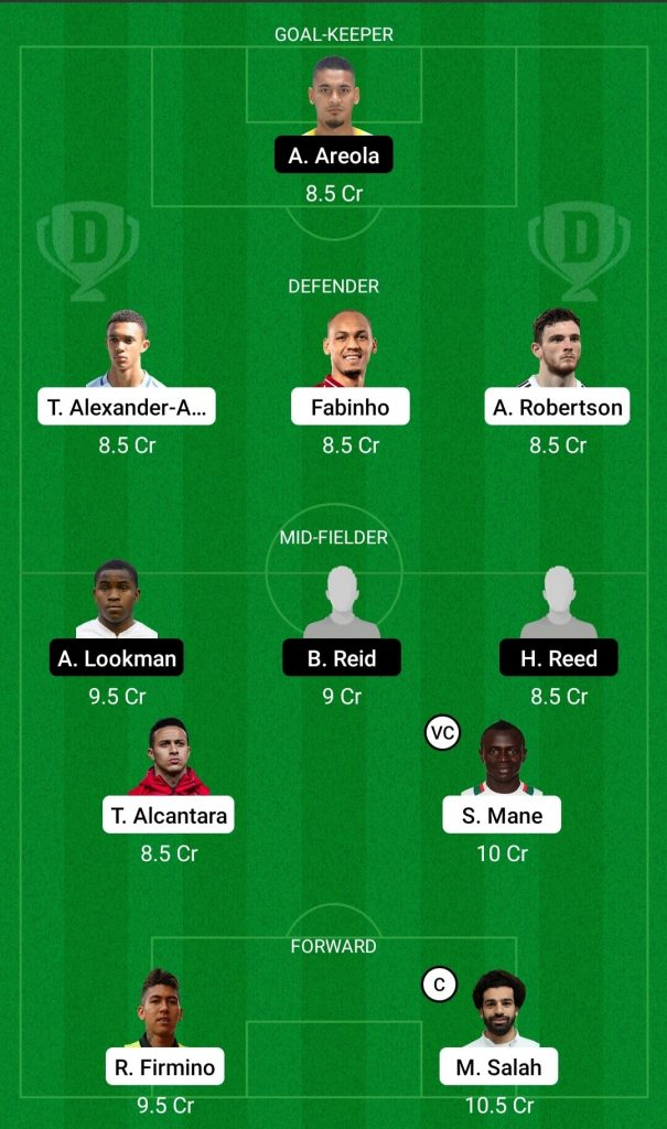 LIV Vs FUL Dream11 Team