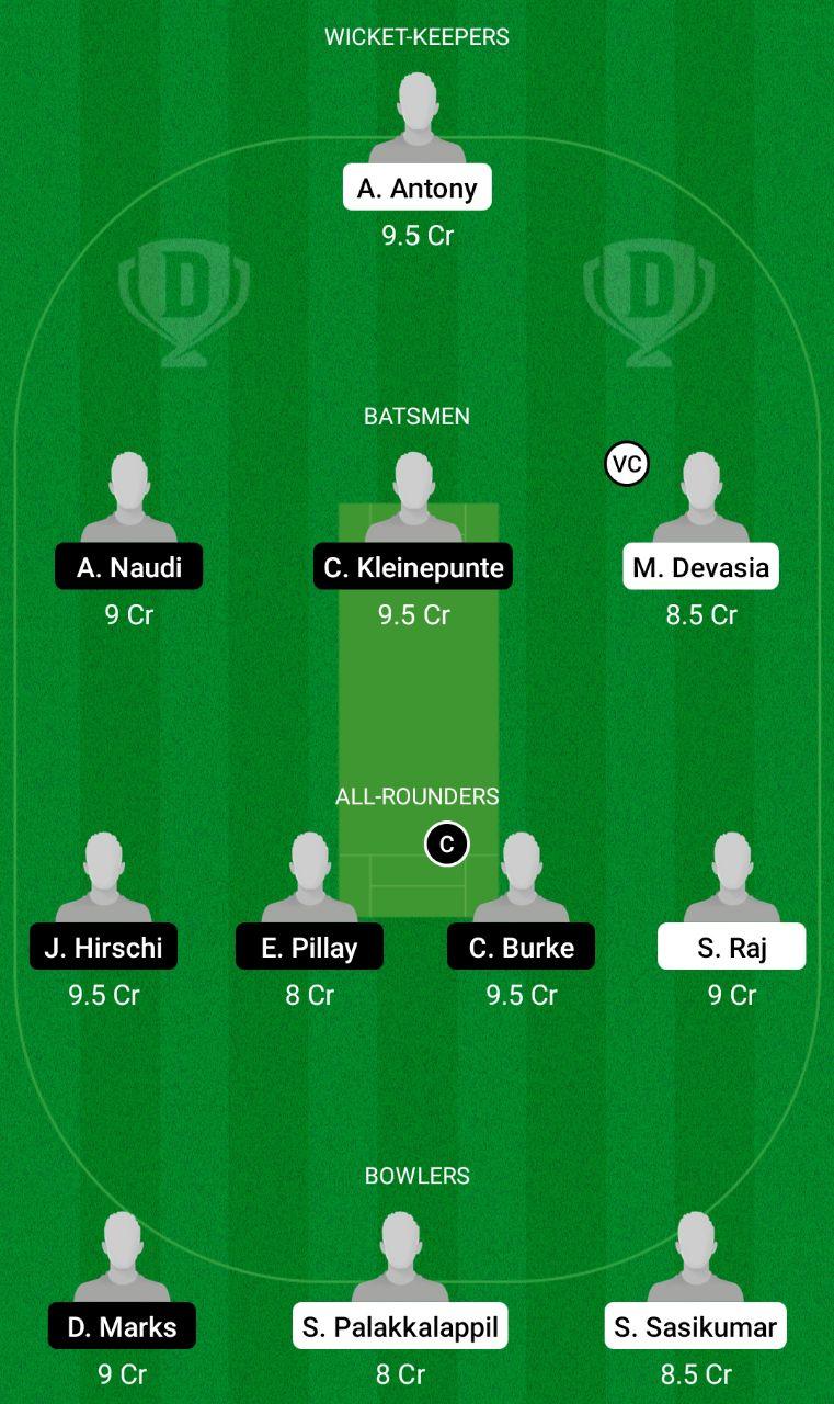 GOZ Vs OVR Dream11 Team