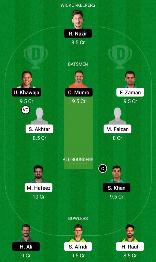 LAH Vs ISL Dream11 Team