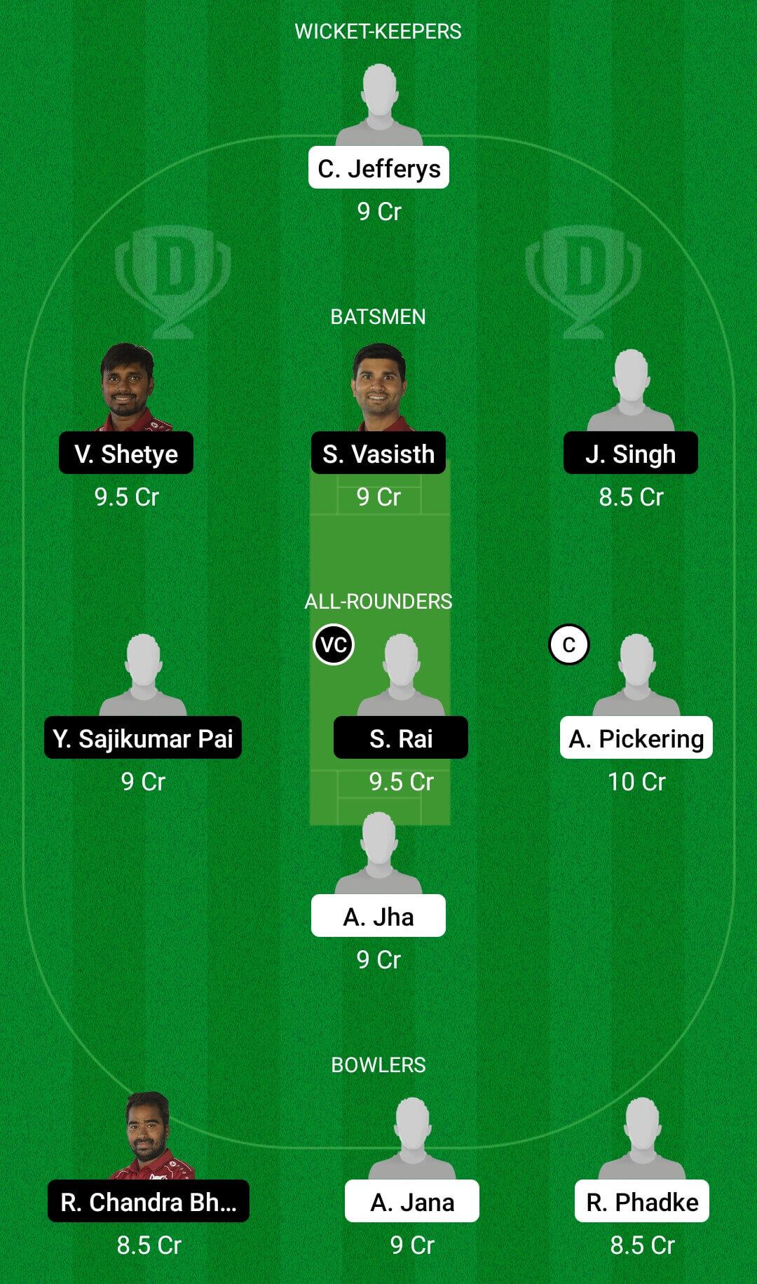 THCC Vs VFB Dream11 Team